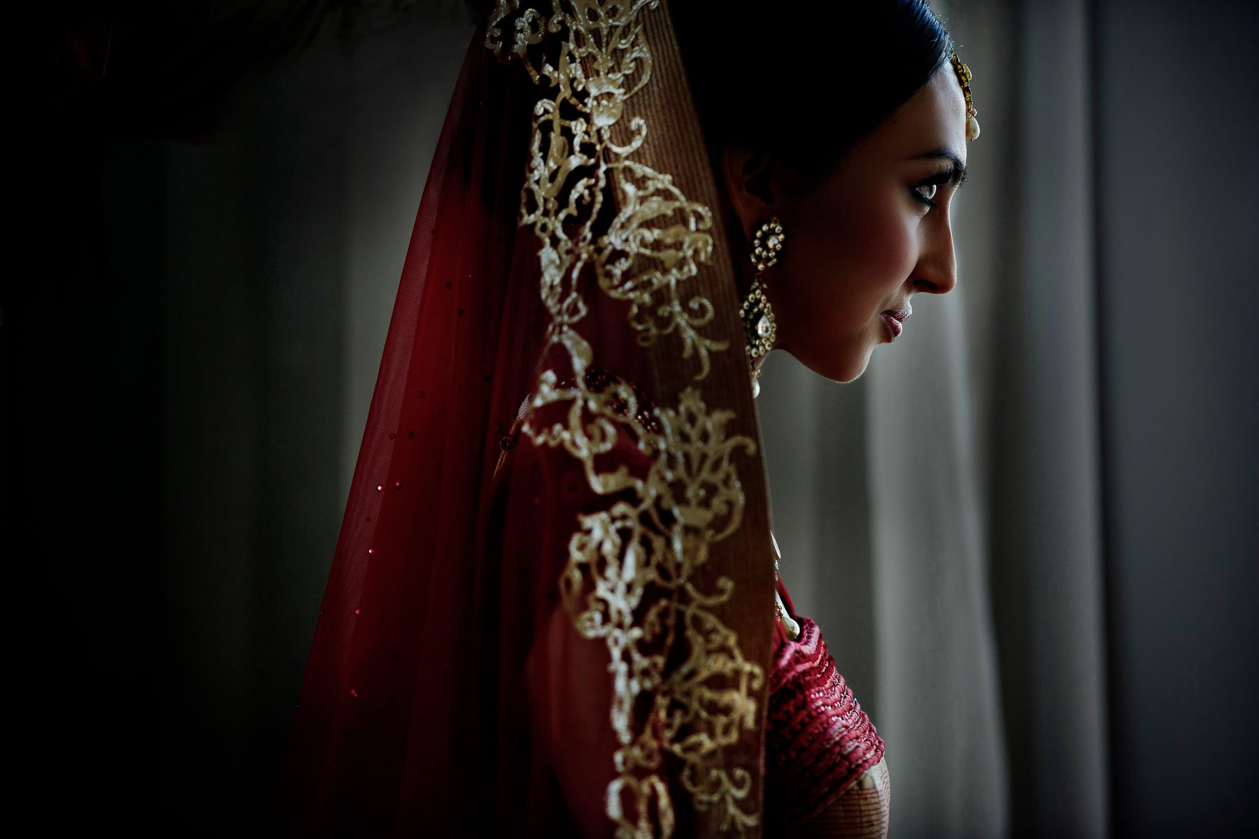 South Asian Bride by Maloman Studios