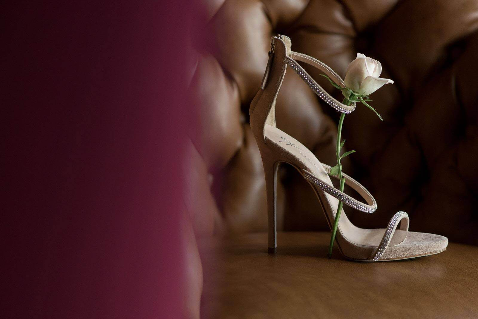 Bride Shoes with White Rose
