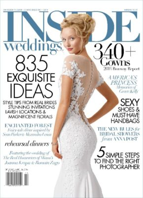 Palm Beach Breakers Wedding Photography featured in Inside Weddings Magazine
